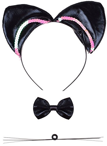 Halloween Costume Accessories Cat Ears Headband for Catwoman Cosplay Party