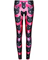Jiayiqi Women Lovely Cartoon Characters Printed Leggings Tights Free Size