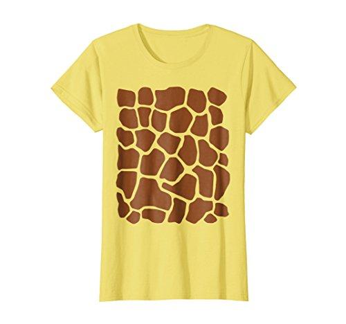 Womens Giraffe Print Simple Halloween Costume Cute T-shirt Small Lemon -