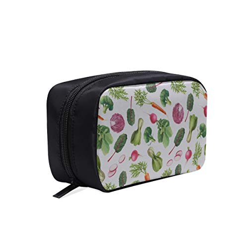Garden Carrots Cabbage Other Vegetables Portable Travel Makeup Cosmetic Bags Organizer Multifunction Case Small Toiletry Bags For Women And Men Brushes Case