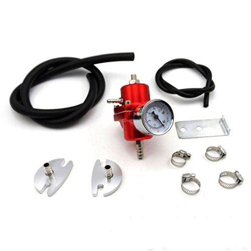 universal 0 140 psi adjustable fuel pressure regulator gauge hose kit red buy online in uae. Black Bedroom Furniture Sets. Home Design Ideas