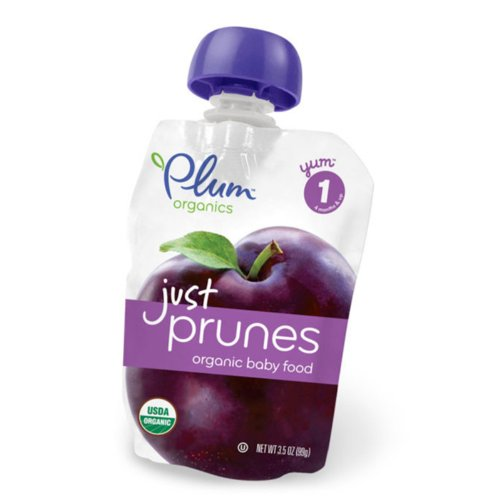 Plum Organics Just Fruit - Organic - Prunes - Stage 1 - 4 Months and Up - 3.5 oz - Case of 6 PLUM JUST PRUNES
