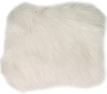 hand muff, large Beautiful faux fur Vintage style White