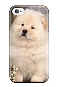 Best Awesome Defender Tpu Hard Case Cover For Iphone 4/4s- Chow Chow Dog