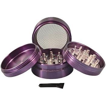 """Sharpstone® 2.2"""" Solid Top 4 Piece Grinder (Purple)"""
