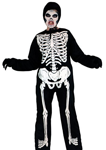 [Morris Youth Skeleton Printed Costume 12-14] (Sexiest Couple Halloween Costumes)