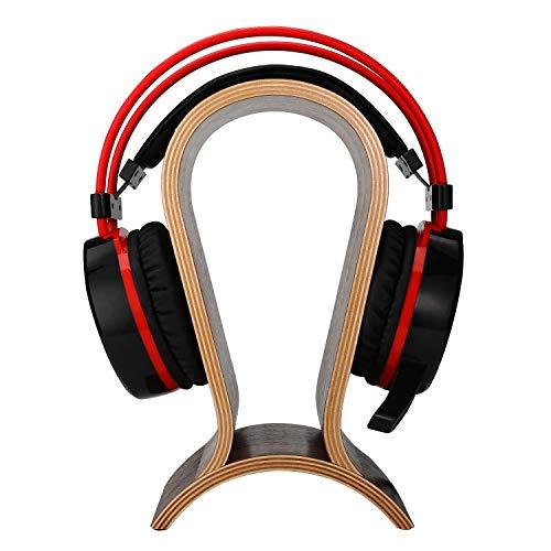 [New Version] ONEGenug Headset Stand Gaming Headphone Display Holder Hanger Wooden Walnut for Sennheiser/Audio-Technica/AKG/ Beyerdynamic/Logitech / HyperX/Sony PS4 Headphones et.