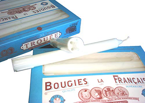 Bougies La Francaise Box of 20 Traditional Trouees Dripless Candles ()