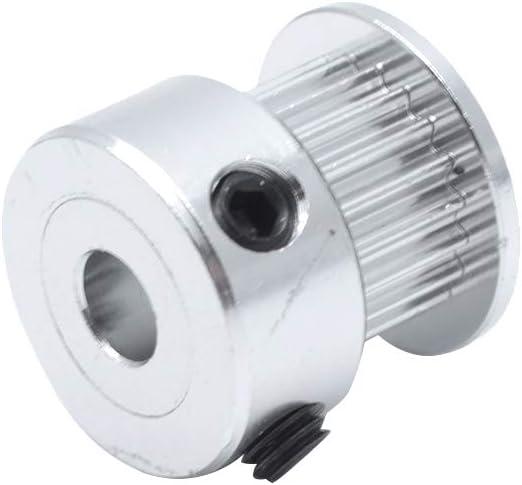 Eilumduo 10Pcs GT2 Pulley 20 Teeth 5mm Bore 6mm Width 20T Timing Belt Pulley Wheel Aluminum for 3D Printer