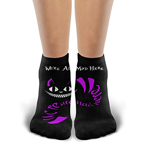 Crew Socks Alice In Wonderland Cheshire Cat Cotton Sock Comfortable Athletic Casual Sock For Men/Womens