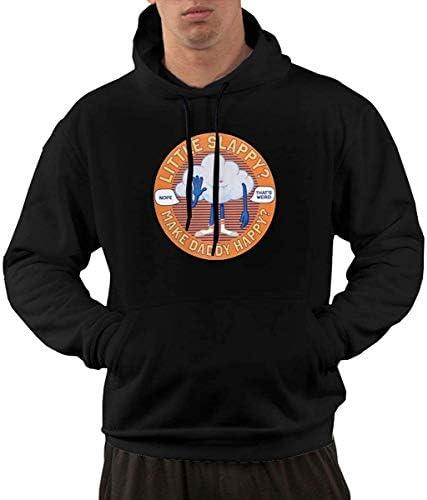MLTseown lifangtaoT Herren Hoodie Kapuzenpullover, Men's Vintage Funky Hoodie Sweatshirt Trolls Cloud Guy High Five Logo Black