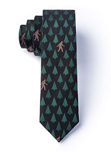 Sasquatch Spotted Black Microfiber Skinny Tie