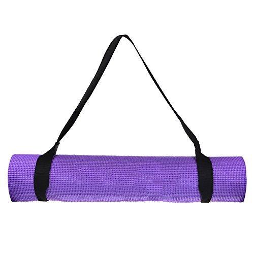 Cosmos® Black Color Soft & Durable Cotton Yoga / Pilates Mat Harness Strap