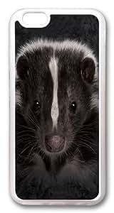 Children's Skunk Portrait TPU Case Cover for iphone 6 plus and iphone 6 plus 5.5 inch Transparent