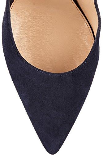 Bleu Chaussures Enfiler High Escarpins Pointues Toe A Quotidiennement Femmes Des Taille Heels Ubeauty Grande vxAqnO1Ew