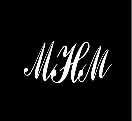6-white-monogram-3-letters-mhm-initials-script-style-vinyl-decal-for-cup-car-computer-any-smooth-sur