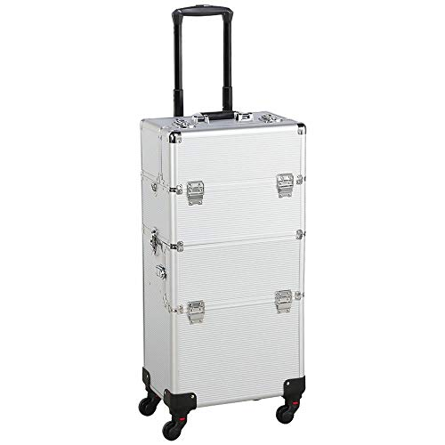 4c9b4bd6477f Gotobuy Aluminum Makeup Case Salon Cosmetic Train Trolley Maquillaje ...