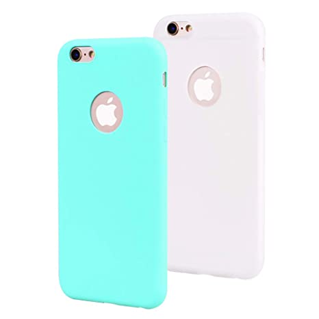 EuCase 2X Funda iPhone 6s Plus Silicona Carcasa iPhone 6 ...