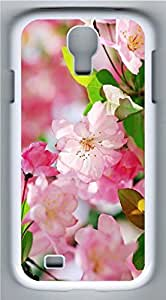 Samsung Galaxy S4 I9500 White Hard Case - Romantic Pink Peach Blossoms Galaxy S4 Cases