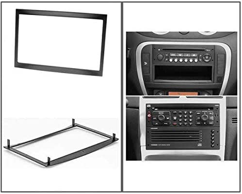 2 DIN Car stereo facia metal frame radio adapter compatible Peugeot C2 C3 207 307 Expert Partner//Fiat Scudo//Toyota ProAce 2D-207C Sound-way