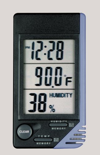 Traceable Air Thermometer and Clock (1 EACH) (Cardinal Thermometer Clock)