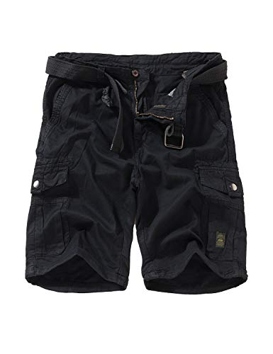EAGLIDE Men's Relaxed Fit Camo Shorts, Mens Twill Athletic Breathable Cotton Ripstop Pockets Belted Cargo Shorts