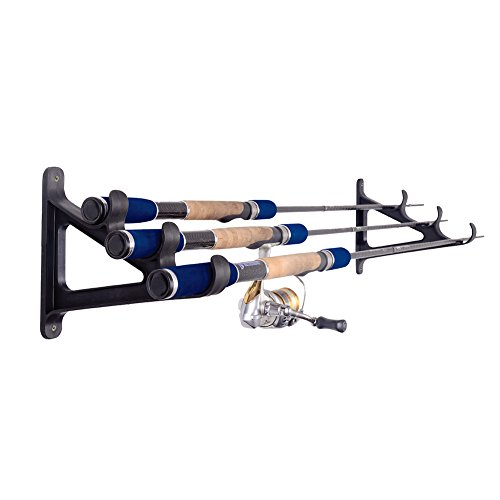 Croch Horizontal Wall Fishing Rod Rack for Fishing Rod Storage