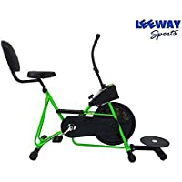 Leeway Exercise Cycle with Back Support & Twister Fix Handle Gym Bike for Weight Loss and Home Use