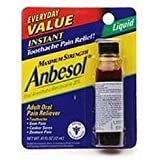 Anbesol Pain Relief, Instant, Maximum Strength, Liquid - 0.41 oz