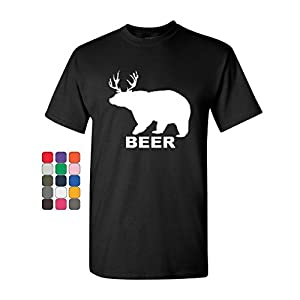 ecc1fbef Bear + Deer = Beer Funny Drinking T-Shirt Beer Tee Shirt ...