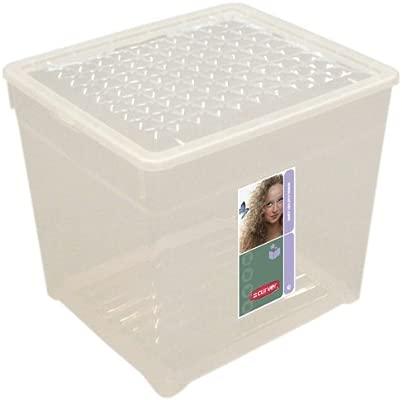 Curver - Caja para Ropa y Textil del Hogar 33L. - Con Tapa - Color Cristal