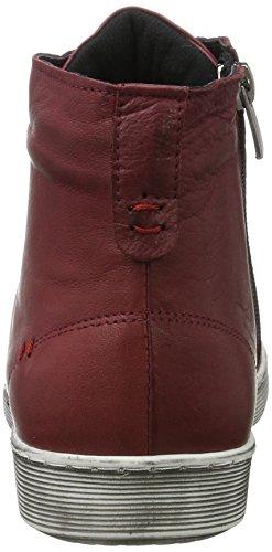 Andrea Conti 0344595 - Zapatillas Mujer Rot (Bordo)