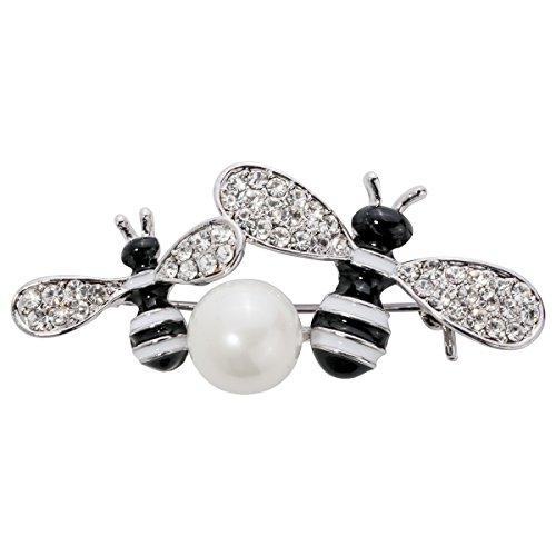 Stephenie Jewelry Crystal Burts Honey Bee Pin Brooch for Women Teen Girls
