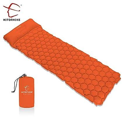 RubyShopUU Hitorhike - Colchón Hinchable para Dormir con Almohada para Acampada, con colchón de Aire