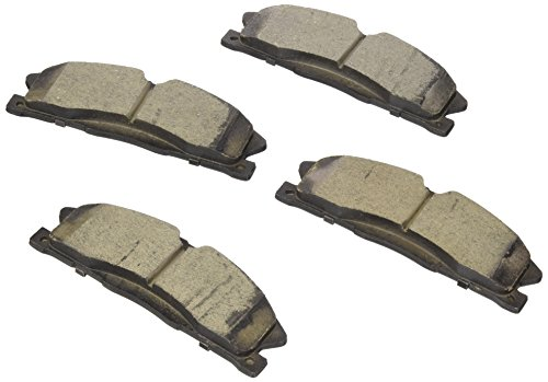 Bosch BC1611 QuietCast Premium Ceramic Disc Brake Pad Set For Select Ford Explorer, Flex, Police Interceptor Sedan, Taurus; Lincoln MKS, MKT; ()