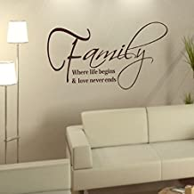 Willtoo(TM) New Family Wall Stickers Fashion Creativity Peel and Stick Decals