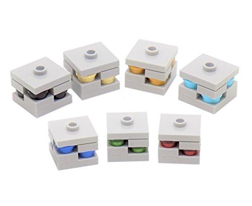 Paquete de minerales LEGO Minecraft: carbón, diamante, esmeralda, oro, hierro, lapislázuli, piedra roja x1