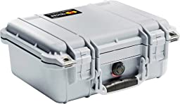 Pelican 1400 Case with Foam for Camera  - Silver