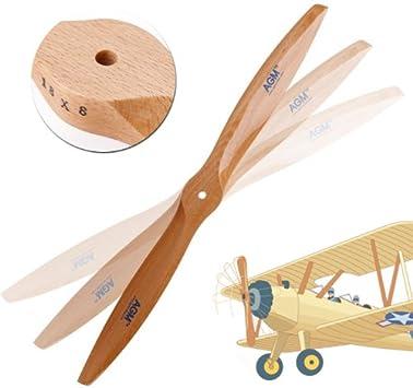 18x8 Holz Luftschraube Beechwood Propeller Für RC Flugzeug DLE Gasmotor GE