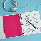 """Avery Durable View 3 Ring Binders, 1.5"""" Slant Ring, Holds 8.5"""" x 11"""" Paper, 4 White Binders"""