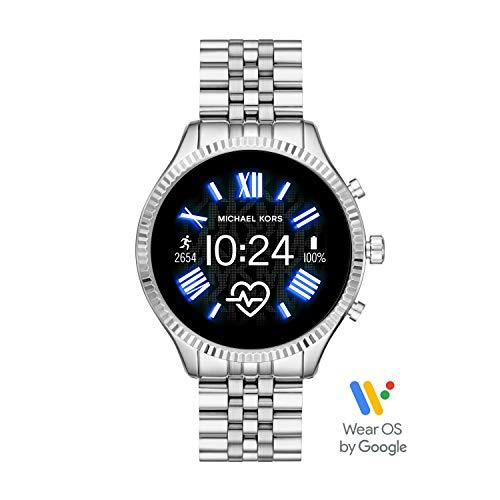 Michael Kors Access Lexington 2 Touchscreen Stainless Steel Smartwatch, Silver Tone-MKT5077