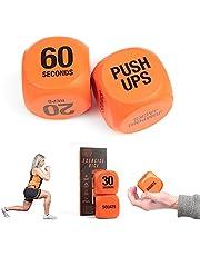 Phoenix Fitness RY1051 övningskub för träningskul – fitness beslutskub – växla träningsrutiner, hit och övningar – hem och gym – orange