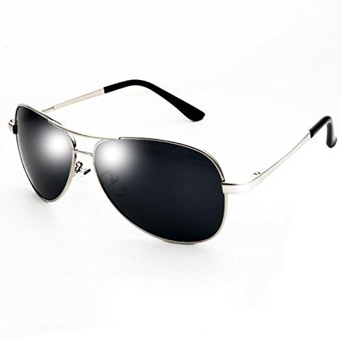 Tide Glasses Color de Gafas de Polarizer La Sol Plata Gafas Plata Pescar Gafas Sol de Driving Driver La zHCnqCOg