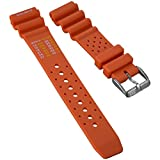 Dive Watch Band by ZULUDIVER, NDL Type for Citizen, Orange, 22mm