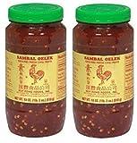 Huy Fong Sambal Oelek Ground Fresh Chili Paste (Large 18 oz Jars) 2 Pack