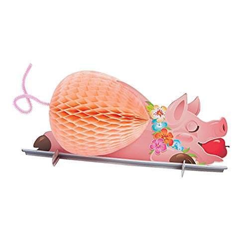 Luau Pig Tissue Centerpiece for Party - Tiki and Luau Party Decorations]()