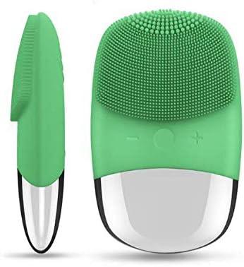 Vibración aura cepillo de limpieza facial silicona limpiador sónico eléctrico removedor de espinillas impermeable masaje facial