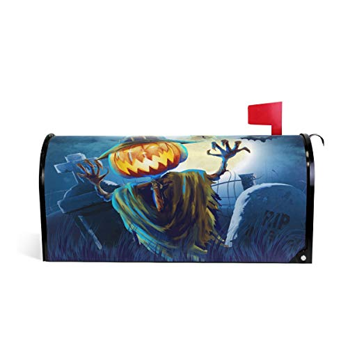 WOOR Halloween Cemetery Magnetic Mailbox Cover Standard Size-18