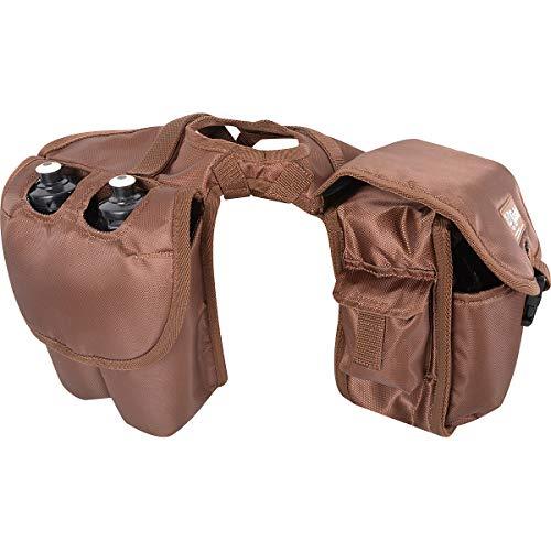 Cashel Saddle Bag, Horn with Bottle Holder, Brown (Equine Bags Western Saddle)