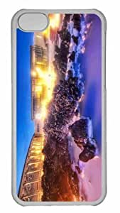 Customized iphone 5C PC Transparent Case - The Milky White Geothermal Occurrence Personalized Cover